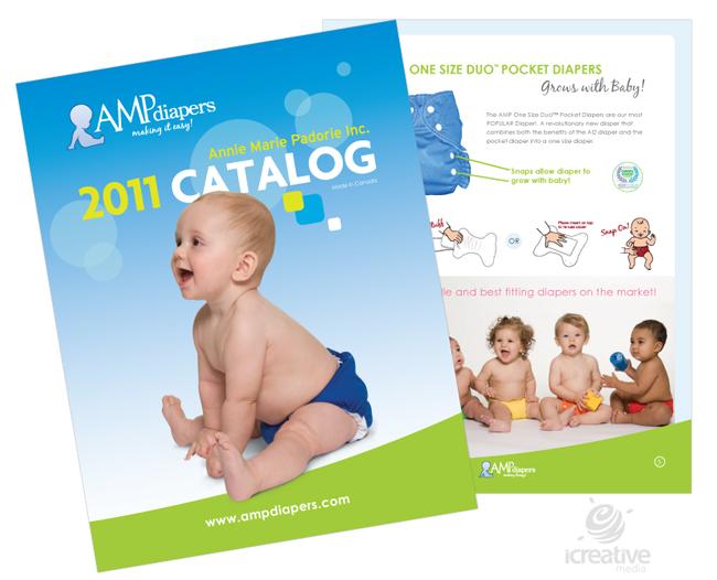 Print Catalog Design for AMP Diapers