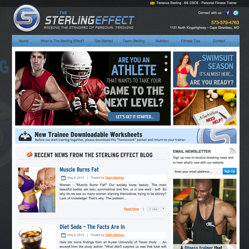 The Sterling Effect - Personal Trainer Website Design
