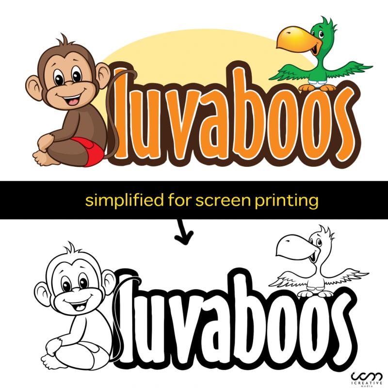Luvaboos Cloth Diaper Logo design