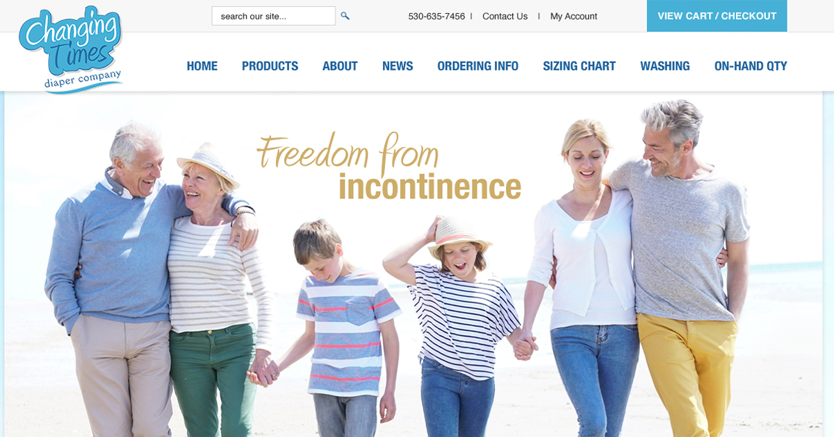 Web Design for Incontinence Company