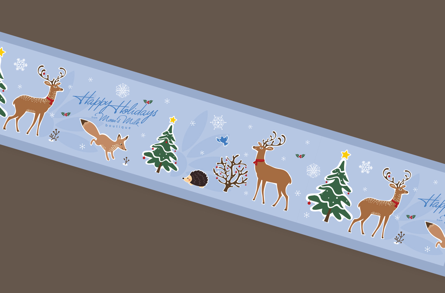 Holiday Packaging Tape Design