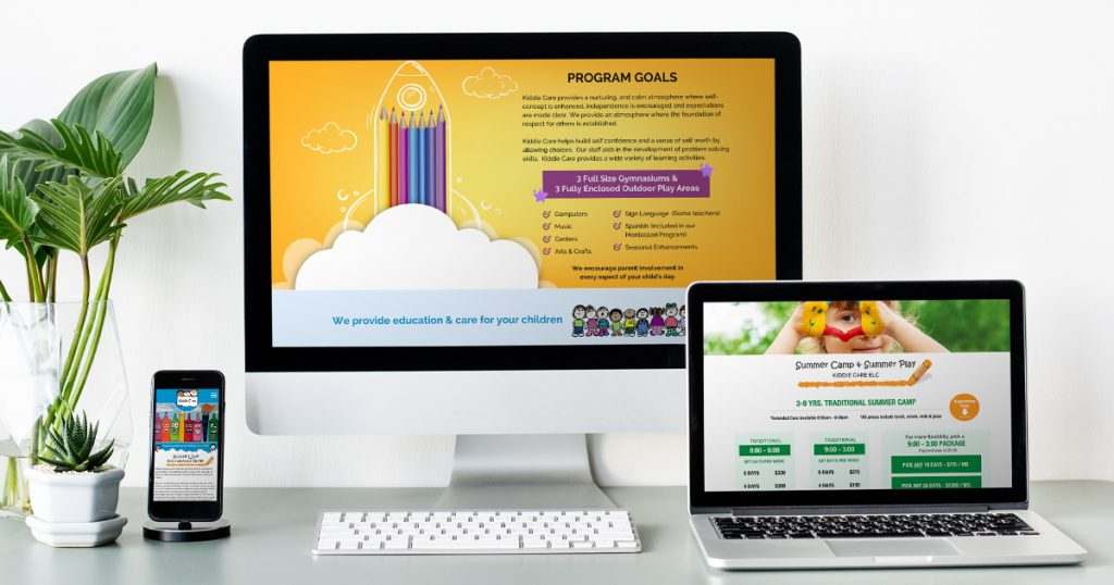 Kiddie Care ELC Website Design